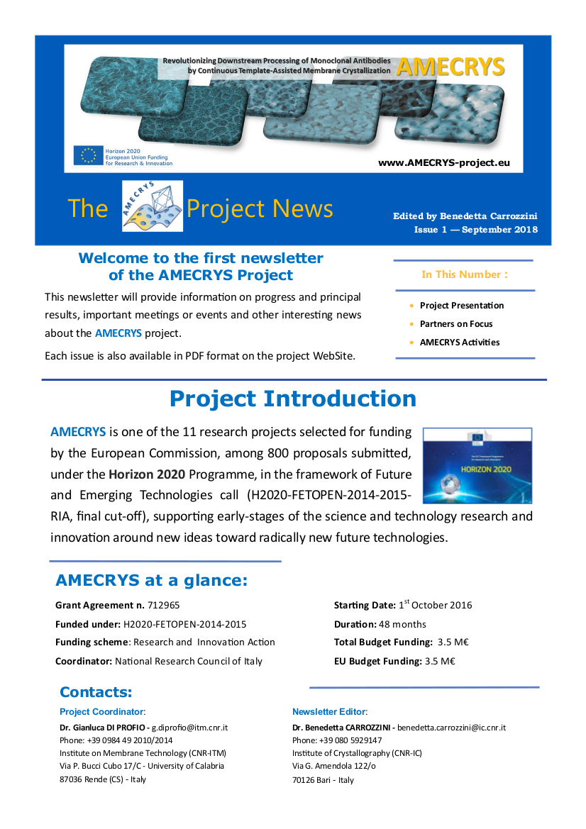 AMECRYS Newsletter 1